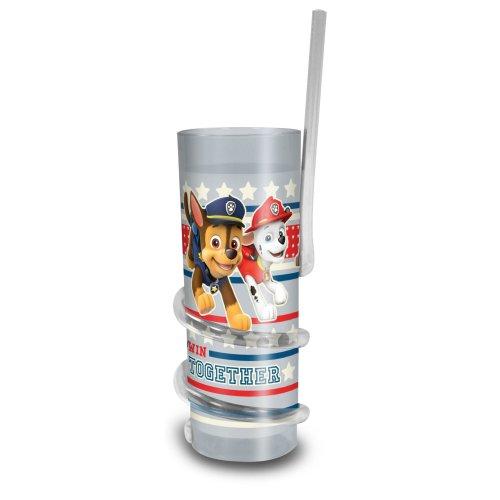 Paw Patrol Twisty Straw Tumbler Cup, 7 x 7 x 18.5 cm