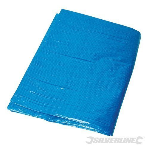 Silverline Tarpaulin 6.1 x 9m - 61 633522 Waterproof -  tarpaulin silverline x 9m 61 633522 waterproof