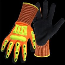 Boss 1CF7006FTPRL Barbarian Nitrile Palm with Knit Wrist Large Glove - Pack of 6