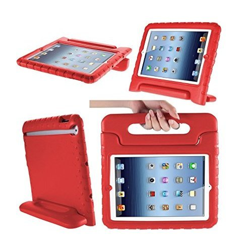 Aken Cover Case Handle Stand for iPad 2nd / 3rd / 4th Gen (iPad 2/3/4) (red)