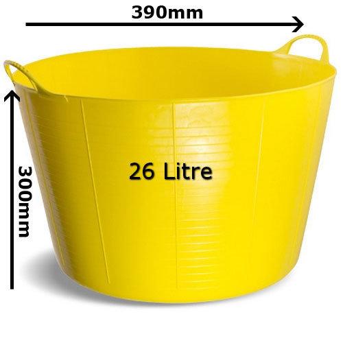 Gorilla Tub SP26Y Medium 26 Litre 390 x 300mm