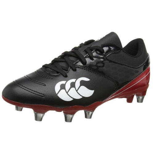 Canterbury Men's Phoenix Raze Soft Ground Rugby Boots, Black (Black), 10.5 UK (45.5 EU)