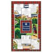Recipes of Scotland Tea Towels Souvenir Gift Scottish Tartan Haggis Broth Cotton