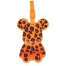 Fashional Luggage Tag Bag Tags Silicone Name Tag Travel Tag [Leopard Bear]