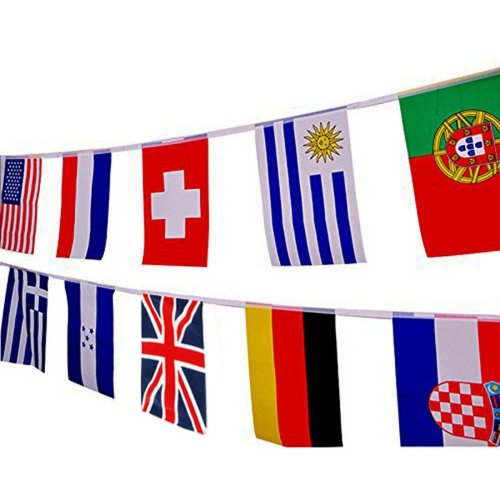 Football 32 World Flags Bunting 9.9m