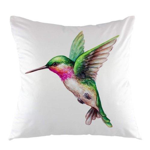"Melyaxu Bird Throw Pillow Cover Bird Animal Hummingbird Colorful Feather Decorative Square Pillow Case 18""X18"" Pillowcase Home Decor for Sofa Bedroom"