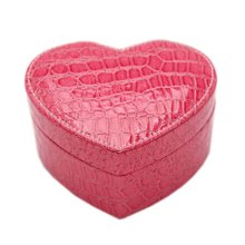 Heart-shaped Jewelry Box Rings Earrings Organizer Make-up Case Jewellery Storage Box, F