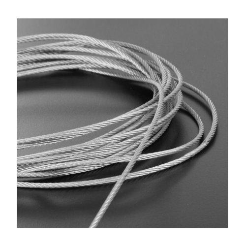 Plastic Coated Steel Wire Rope 5mm x 5 Meters (4mm mm Plastic Coating)