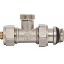 "Manual Return Outlet Radiator Valve 16mm Pex Compression Fittings X 1/2"" Bsp"