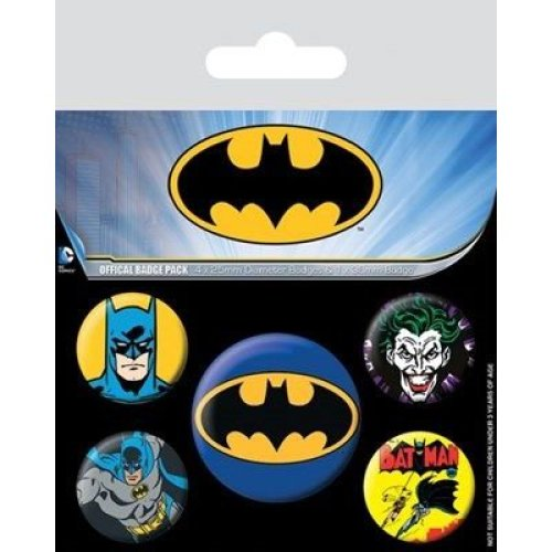 Dc Comics Batman Badge Pack - Set Film Pin Logo 5 Button Dark Knight Justice -  badge set film pin dc comics batman logo 5 button dark knight justice