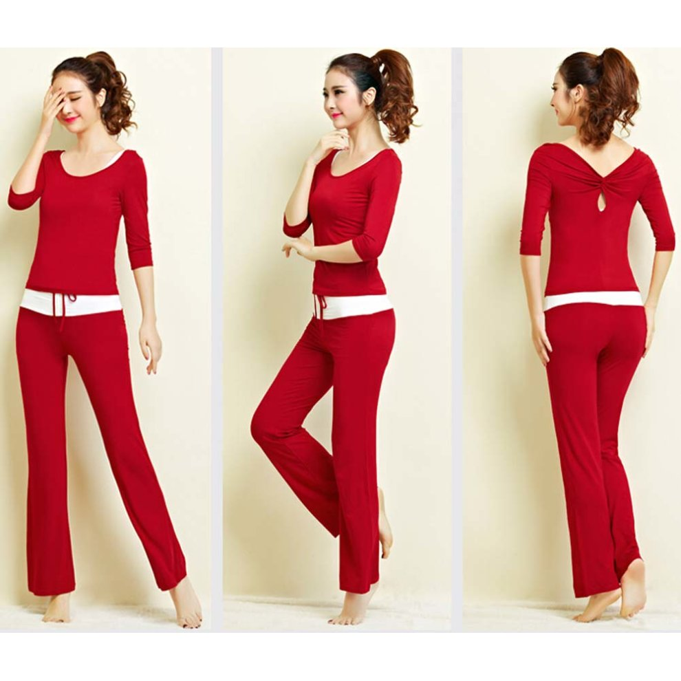 c53f84ffd744 ... Womens Fitness Dance Yoga Wear Set 3 Pieces Soft Fitness Yoga Gym Dance  Outfit - 1. >