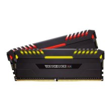 Corsair Vengeance RGB 32GB Kit (2 x 16GB), DDR4, 2666MHz (PC4-21300), CL16, XMP 2.0, DIMM Memory