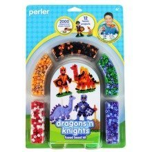 Prl55996 - Perler Beads - 2000 Pc Blister Set - Dragons N Knights