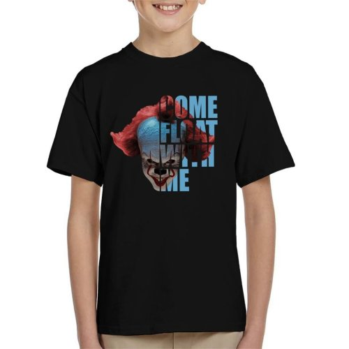 It Pennywise Half Head Text Kid's T-Shirt