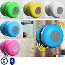 Waterproof Wireless Bluetooth Handsfree Mic Suction Shower Speaker Car Stereo[Pink]