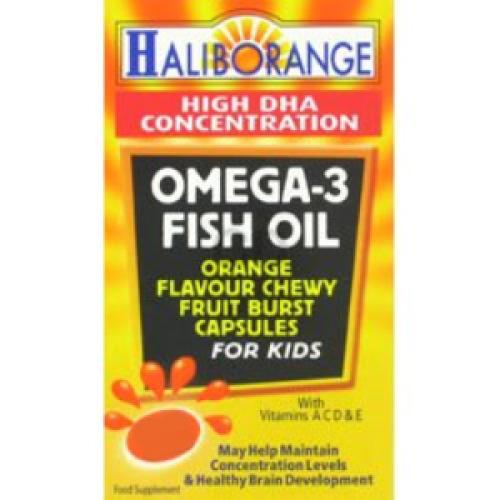 Haliborange Omega-3 Fish Oil Orange Caps 90