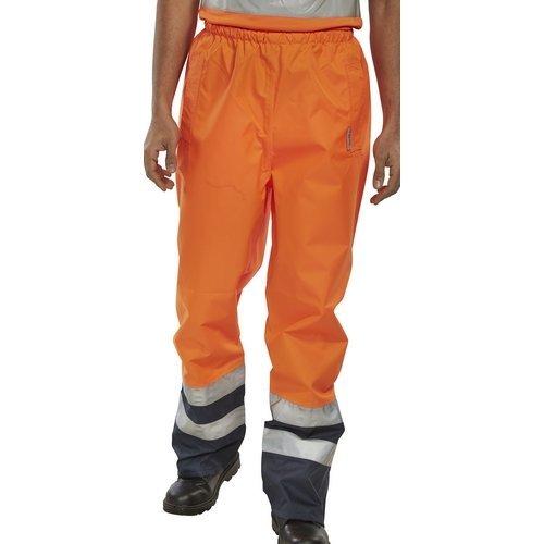 Click BETORNXXL Hi Vis Belfry Trousers Orange / Navy XXL
