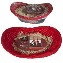 Make Your Own Hamper Kit - Oval Basket; Bag; Ribbon & Wood -  make your own hamper 44cm x 16cm oval basket bag ribbon wood