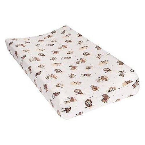 TrendLab 101387 Safari Rock Band Deluxe Flannel Changing Pad Cover