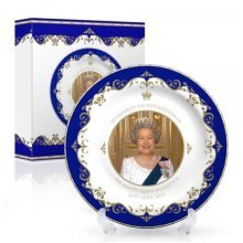 "The Queens 90th Birthday 4.5"" Collectors Plate Royal Elizabeth II 2nd Ninetieth"