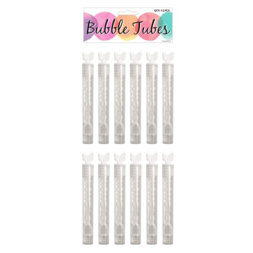12 Wedding Butterfly Tube Bubbles (Bag)