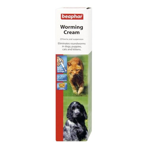 Beaphar Worming Cream For Dogs, Puppies, Cats, Kittens, Worm Treatment