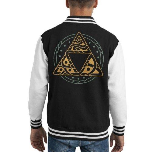 Legend Of Zelda The Golden Power Kid's Varsity Jacket