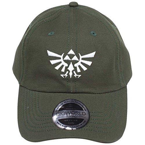 68099d0012a Bioworld Nintendo Legend Of Zelda Embroidered Tri-Force Crest Stone Washed Denim  Dad Baseball Cap