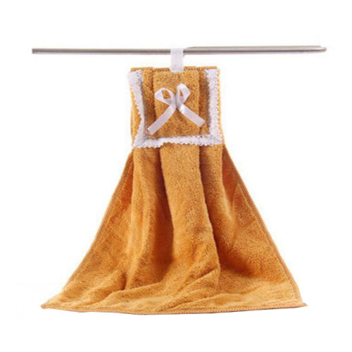 Plush Kids Hanging Hand Towels, Fingertip Towels, Kitchen Toilets Toy,Brown