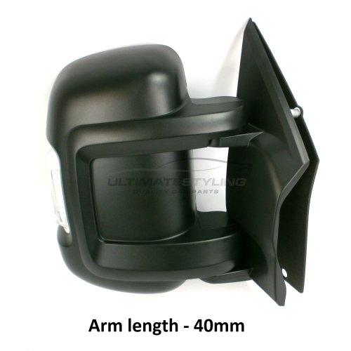 Peugeot Boxer Van 2006-9/2014 Manual Short Arm Wing Door Mirror Drivers Side O/S