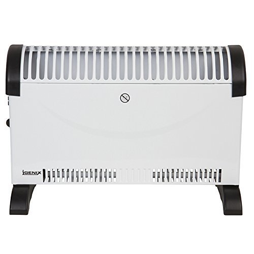 Igenix IG5200 Portable Electric Convector Heater with Adjustable Thermostat, Can be Freestanding or Wall Mounted, Ideal for Home or Office, 2000 W,...