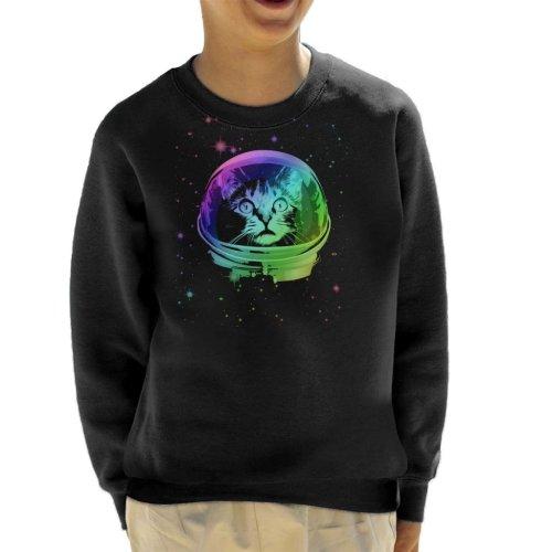 Cat Astronaut In Space Stars Kid's Sweatshirt