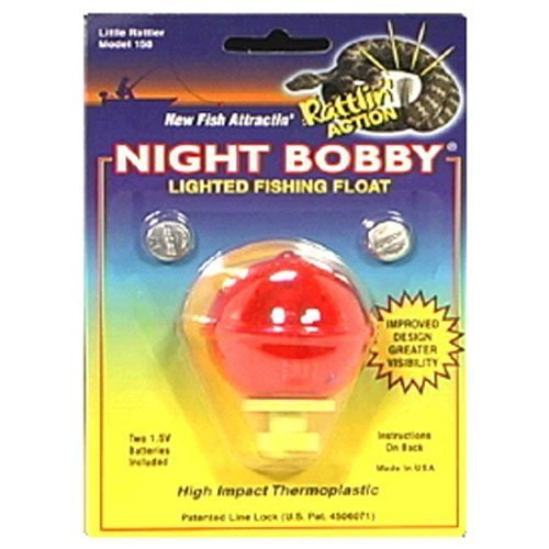 Night Bobby 158-R Lighted Fishing Float (Red, 1-3/4 Inch)