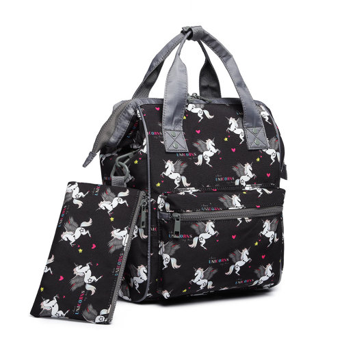 892d3a936b Miss Lulu Unicorn Backpack School Bag for Boys Girls Children with Pencil  Case Black on OnBuy