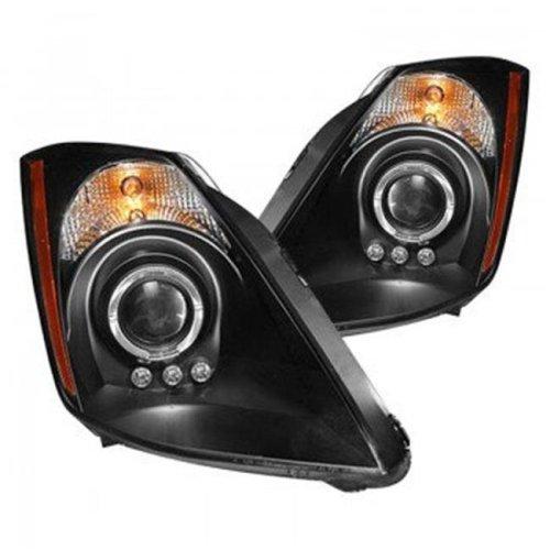 Spec D Tuning 2LBLH-GMC99JM-RS Euro Style Head Light with Bumper Lights for 1999-2006 Gmc Sierra, Black