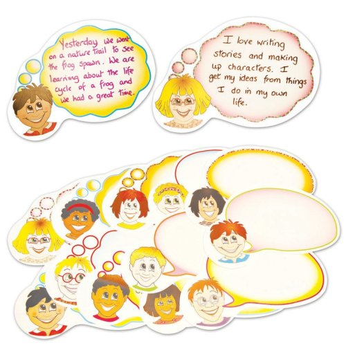 Pre-Cut Speech and Thought Bubbles for Classroom Display 24x38cm (Pack of 24)