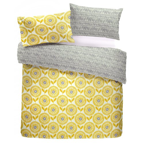 209df094daa9 Fusion - Ada - Easy Care Duvet Cover Set - Double, Ochre on OnBuy
