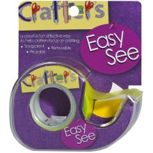"Lee Products Crafter's Easy See Removable Tape .5""X720""-Yellow"