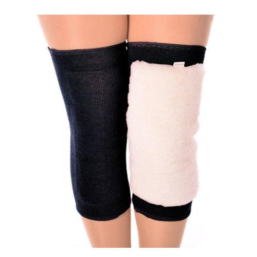 Pair of Elastic Warm Wool Knee Brace Support Sleeve KneePads Knee Warmers, Black