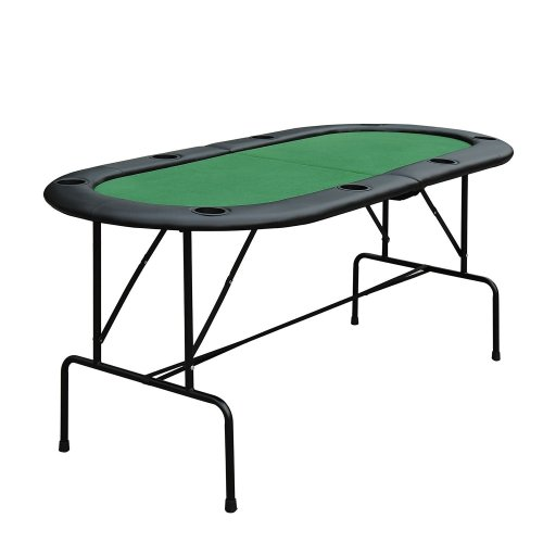 Homcom 8-Person Poker Table 1.85m | Folding Poker Table