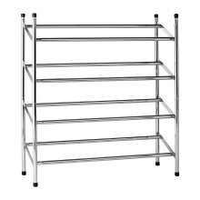 4-Tier Extendable Shoe Rack, Chrome