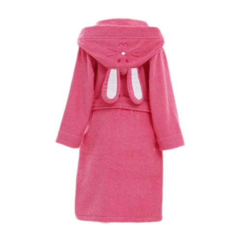 Children Cotton Bathrobe Soft Swim Bath Gown Robes Pajamas with Hat-A05