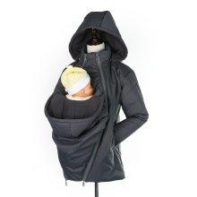 Grey Baby Wearing Maternity Coat | 3-in-1 Maternity Jacket
