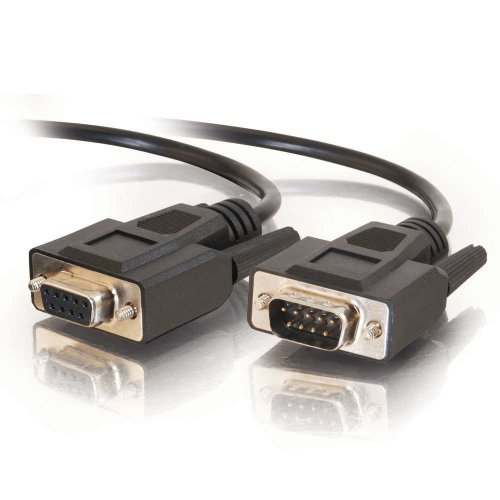 C2G 2m DB9 RS232 M/F Extension Cable - Black serial cable