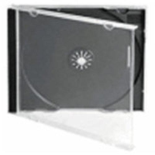 Fellowes 9833801 Jewel case 1discs Black,Transparent