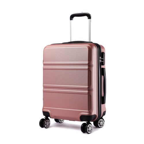 KONO 20 Inch Cabin Suitcase Travel Luggage 4 Wheels Spinner Nude