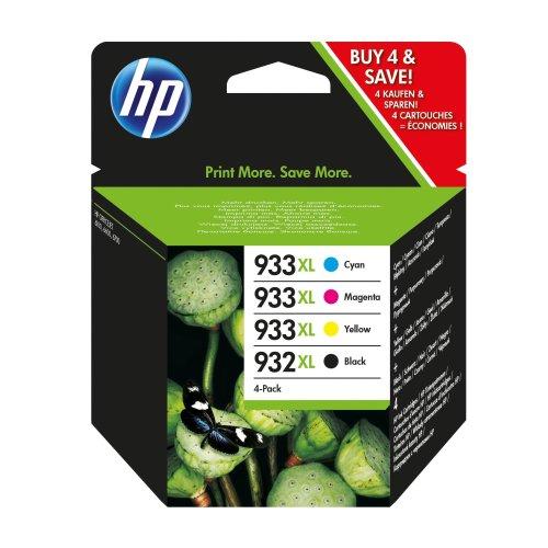 HP 932XL Black/933XL Cyan/Magenta/Yellow 4-pack Original Ink Cartridges C2P42AE