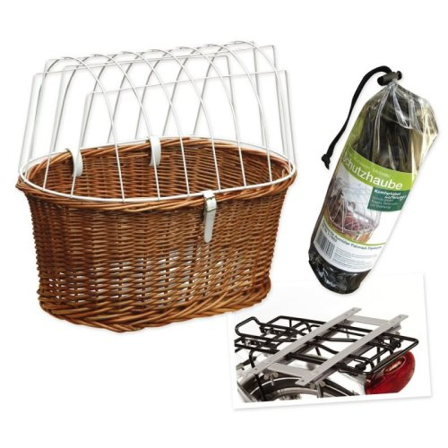 Bicycle Basket with Protective Wire + Rain Cover Free!