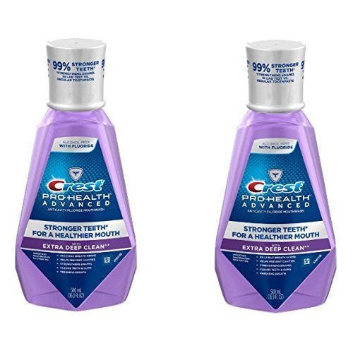 (2Pack) Crest ProHealth Advanced with Extra Deep Clean Mouthwash Clean Mint 169 Fluid Ounce