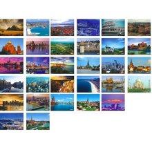 Beautiful Travel Scenery 33 PCS Artistic Retro Postcards-World A1